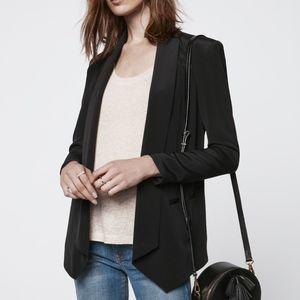 REBECCA MINKOFF Long Becky Jacket Silk Blazer